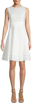 Calvin Klein Eyelet Fit--Flare Dress