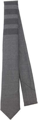 Thom Browne Striped Wool-Blend Twill Tie