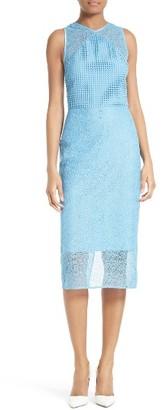 Women's Diane Von Furstenberg Mixed Lace Sheath Dress $368 thestylecure.com