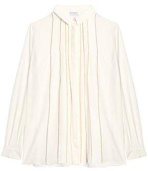Vionnet Metallic-Trimmed Silk Shirt
