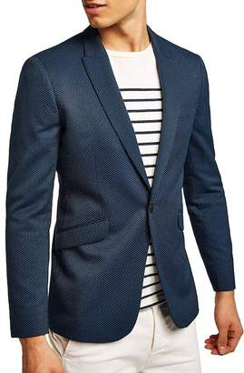 Topman Skinny Fit Pin Dot Suit Jacket
