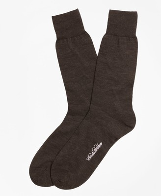 Brooks Brothers Merino Wool Jersey Crew Socks