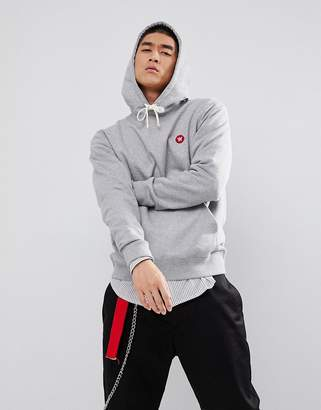 Wood Wood Hoodie With AA Logo In Gray