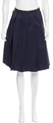 Hache Pleated Knee-Length Skirt