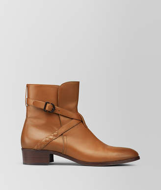 Bottega Veneta DARK LEATHER CALF ANKLE BOOT