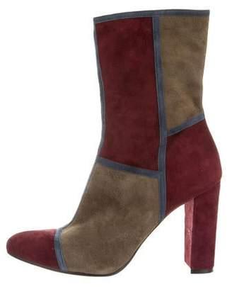 Jean-Michel Cazabat Suede Colorblock Boots