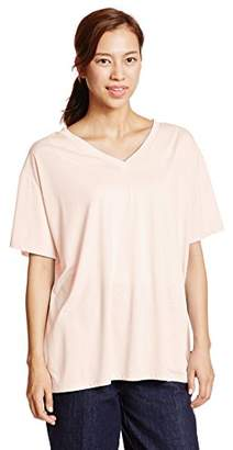 Avan Lily (アヴァン リリー) - (アヴァンリリィ)Avan Lily chick ルーズVネックTシャツ 1809S180-6750 L/PNK FREE