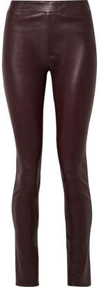 Helmut Lang Leather Skinny Pants - Merlot