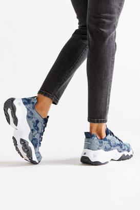 Skechers DLites 3 Denim Wavy Sneaker