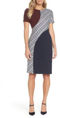 Eliza J Colorblock Sheath Dress