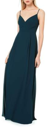 #Levkoff Pleated Bodice Chiffon Gown