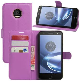 Motorola Yaheeda Moto Z Play Case, Premium PU Leather Wallet Flip Phone Protective Case Cover for Moto Z Force/Play Droid