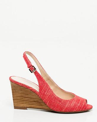 Le Château Metallic Linen Slingback Shoe