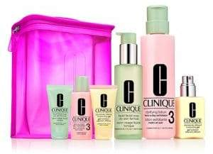 Clinique Six-Piece Great Skin Home Away 3 4 Set