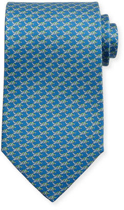 Salvatore Ferragamo Sea Turtles Silk Tie $190 thestylecure.com