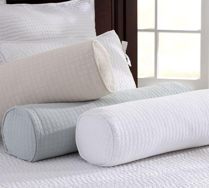 Cameron Organic Matelasse Bolster Pillow Cover
