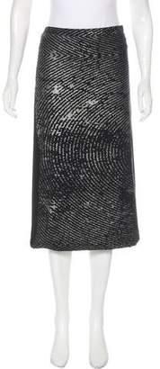 Zero Maria Cornejo Printed Midi Skirt