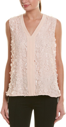 Badgley Mischka Silk-Paneled Top
