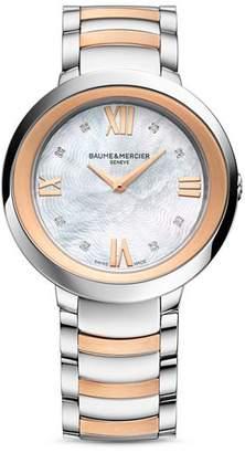 Baume & Mercier Promesse Diamond Two Tone Watch, 34mm