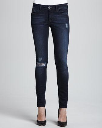 DL 1961 Premium Denim Amanda Seville Distressed Skinny Jeans