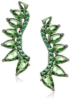 Noir Green Ashton Ear Cuffs