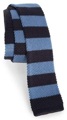 BOSS Stripe Knit Silk Tie