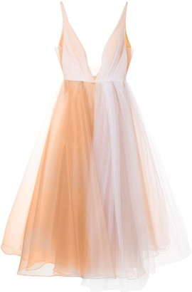 Alex Perry Joia plunge tulle dress