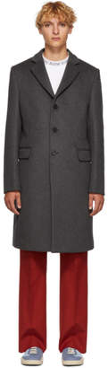 Acne Studios Grey Wool Gavin Coat