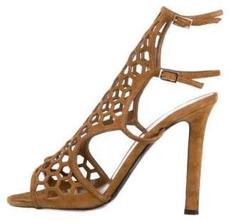 Tamara Mellon Suede Cutout Sandals
