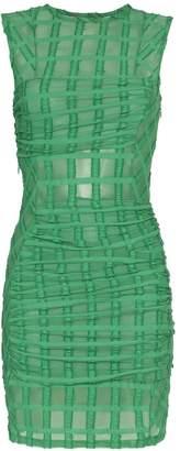 Eckhaus Latta mesh check mini-dress