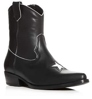 Anine Bing Women's Elton Leather Low-Heel Western Boots