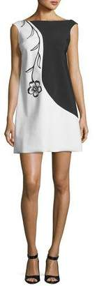 Chiara Boni Roxy Colorblock Flower Mini Dress