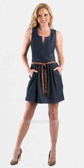 VAVA by Joy Han Debbie Denim Mini Day Dresses From