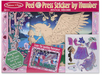 Melissa & Doug Mystical Unicorn Peel and Press Sticker by Number