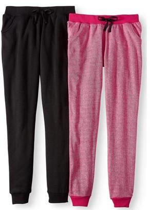 Pink Velvet Solid and Marled Fleece Joggers, 2-Pack (Little Girls & Big Girls)