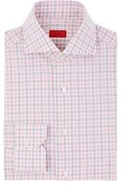 Isaia Men's Checked Cotton Poplin Shirt