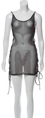 Minimale Animale Mesh Lace-Up Dress w/ Tags