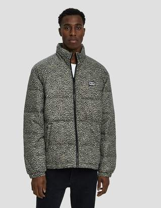 Obey Bouncer Puffer Jacket in Khaki Leopard