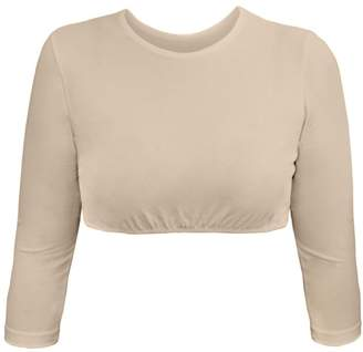dcd3ecc96f5 Kosher Casual Women s Modest High Neck Cropped Layering Shell - Cotton  Lycra 3 4 Sleeve