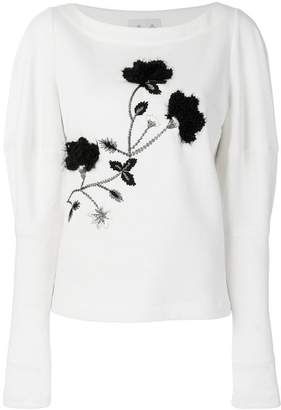 Si-Jay embroidered top
