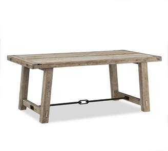 Pottery Barn Benchwright Dining Table, Gray Wash