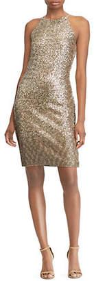 Lauren Ralph Lauren Sequined Halter Dress