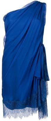 Alberta Ferretti one-shoulder shift dress
