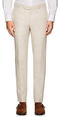 Isaia Men's Cortina Linen Trousers - Beige, Khaki