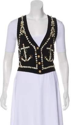 Temperley London Embellished Knit Vest