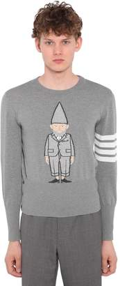 Thom Browne Gnome Intarsia Cotton Knit Sweater