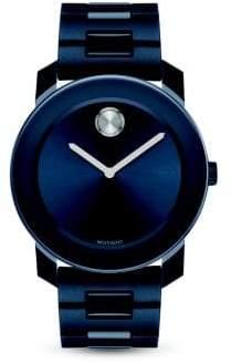 Movado Large Bold Navy Stainless Steel Bracelet Watch