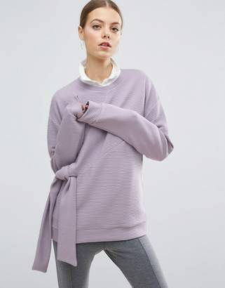 Asos Sweatshirt with Knot Detail and Textured Sweat