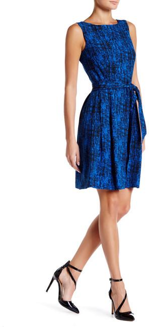 Anne KleinAnne Klein Printed Crepe Fit & Flare Dress