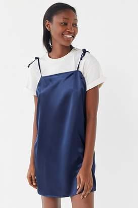 Urban Renewal Vintage Remnants Satin Tie-Shoulder Slip Dress